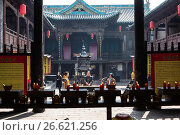 Купить «People Burning incense, Cheng Huang Temple, Pingyao, Shanxi province, China.», фото № 26621256, снято 10 марта 2017 г. (c) age Fotostock / Фотобанк Лори