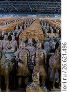 Купить «Army of Terracotta Warriors, 2000 years old discovered in 1974, Xi'an, Shaanxi province, China.», фото № 26621496, снято 14 марта 2017 г. (c) age Fotostock / Фотобанк Лори