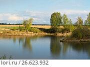Купить «Южный берег озера», фото № 26623932, снято 12 мая 2017 г. (c) Игорь Камаев / Фотобанк Лори