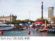 Copa de Nadal de Natacio open water swim in Barcelona (2016 год). Редакционное фото, фотограф Яков Филимонов / Фотобанк Лори