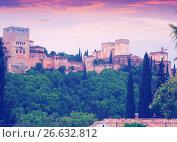 Dawn view of Alhambra. Granada (2016 год). Стоковое фото, фотограф Яков Филимонов / Фотобанк Лори