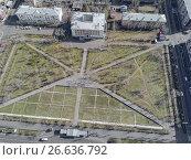 Площадь Декабристов Чита, с высоты птичьего полета, фото № 26636792, снято 7 мая 2017 г. (c) Геннадий Соловьев / Фотобанк Лори