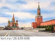 Купить «Красная площадь без солнца. Red Square without the sun», фото № 26639608, снято 15 апреля 2017 г. (c) Baturina Yuliya / Фотобанк Лори