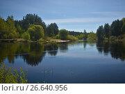 Купить «Река Пра в Рязанской Мещере», фото № 26640956, снято 5 мая 2017 г. (c) Сергей Дрозд / Фотобанк Лори