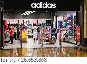 "Купить «Магазин Adidas в ТРЦ ""Афимолл Сити""», эксклюзивное фото № 26653868, снято 26 июня 2012 г. (c) Алёшина Оксана / Фотобанк Лори"