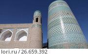 Купить «unfinished Kalta Minor Minaret minaret Muhammad Amin Khan 19th century. Khiva, Uzbekistan», видеоролик № 26659392, снято 6 июля 2009 г. (c) Куликов Константин / Фотобанк Лори