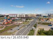 Купить «Панорама Нового Уренгоя, 2017», фото № 26659840, снято 14 июля 2017 г. (c) Михаил Рыбачек / Фотобанк Лори