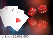Купить «Composite 3d image of digital composite image playing cards», иллюстрация № 26662600 (c) Wavebreak Media / Фотобанк Лори
