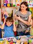 Small students girl and boy painting in art school class., фото № 26666616, снято 25 марта 2017 г. (c) Gennadiy Poznyakov / Фотобанк Лори