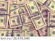 Купить «background of dollars banknotes», фото № 26676040, снято 23 февраля 2012 г. (c) Яков Филимонов / Фотобанк Лори
