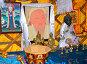 Портрет Чингисхана и предметы буддийского культа в музее ойрат-монгольской кочевой культуры. Элиста, Калмыкия, фото № 26679244, снято 22 апреля 2017 г. (c) Ирина Борсученко / Фотобанк Лори