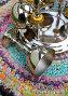 Никелированный набор фужеров для шампанского, эксклюзивное фото № 26681032, снято 10 июля 2017 г. (c) Анатолий Матвейчук / Фотобанк Лори