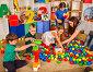 Children playing in kids cubes indoor. Lesson in primary school., фото № 26695816, снято 25 марта 2017 г. (c) Gennadiy Poznyakov / Фотобанк Лори