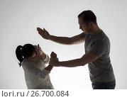 Купить «couple having fight and man slapping woman», фото № 26700084, снято 20 января 2017 г. (c) Syda Productions / Фотобанк Лори