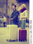 Купить «Senior couple sightseeing», фото № 26704164, снято 7 июля 2020 г. (c) Яков Филимонов / Фотобанк Лори