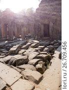 Купить «Temple Preah Khan ruins(12th Century) in Angkor Wat, Siem Reap, Cambodia», фото № 26709456, снято 31 января 2015 г. (c) Куликов Константин / Фотобанк Лори