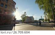Купить «Kazan, Russia., 27 june 2017, Staro-Tatarskaya Sloboda», видеоролик № 26709604, снято 24 июня 2019 г. (c) Константин Шишкин / Фотобанк Лори
