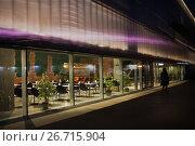 Купить «Кафе музея Гараж вечером в парке Горького», фото № 26715904, снято 26 июля 2017 г. (c) Victoria Demidova / Фотобанк Лори