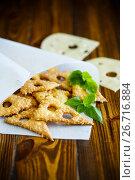 Купить «Home cheese crackers in the form of cheese», фото № 26716884, снято 30 июля 2017 г. (c) Peredniankina / Фотобанк Лори