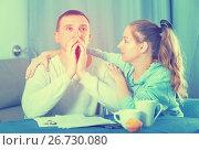 Купить «Couple struggling to pay bills», фото № 26730080, снято 18 марта 2017 г. (c) Яков Филимонов / Фотобанк Лори