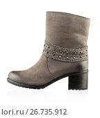 Купить «Fashionable women winter boot», фото № 26735912, снято 1 августа 2013 г. (c) Никита Буйда / Фотобанк Лори