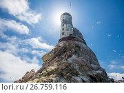 Купить «Заброшенный маяк Анива на острове Сахалин», фото № 26759116, снято 12 июня 2017 г. (c) Поволкович Федор / Фотобанк Лори