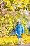 girl holding maple leaves, фото № 26762160, снято 18 октября 2011 г. (c) Ольга Сапегина / Фотобанк Лори