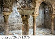 Купить «Closeup of Arabic baths (El Banuelo). Granada», фото № 26771976, снято 13 мая 2016 г. (c) Яков Филимонов / Фотобанк Лори