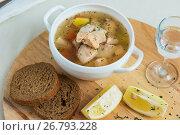 Купить «Russian traditional fish soup», фото № 26793228, снято 7 октября 2016 г. (c) Jan Jack Russo Media / Фотобанк Лори
