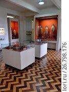 Купить «Interior of the National Museum of Quinta da Boa Vista linked to UFRJ in the district of São Cristóvão, Rio de Janeiro, Rio de Janeiro, Brazil, 04.2017», фото № 26798176, снято 23 апреля 2017 г. (c) age Fotostock / Фотобанк Лори