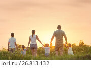 Large family with children. Стоковое фото, фотограф Типляшина Евгения / Фотобанк Лори