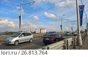 Купить «Мост через реку Самара», фото № 26813764, снято 12 августа 2017 г. (c) Кургузкин Константин Владимирович / Фотобанк Лори