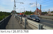 Купить «Мост через реку Самара», фото № 26813768, снято 12 августа 2017 г. (c) Кургузкин Константин Владимирович / Фотобанк Лори