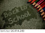 Купить «Composite image of back to school text on pink splash», фото № 26814240, снято 11 декабря 2018 г. (c) Wavebreak Media / Фотобанк Лори