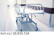 Купить «hospital gurney or stretcher at emergency room», фото № 26816124, снято 3 декабря 2015 г. (c) Syda Productions / Фотобанк Лори