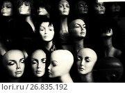 Купить «Close-up of the faces of a mannequins. London, England, UK.», фото № 26835192, снято 10 января 2017 г. (c) age Fotostock / Фотобанк Лори