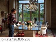 Domaine de L'Isle Basse Hotel, Lieu dit Isle Basse, Route des Isles, Fontanes, Grand Cahors, Quercy, Midi-Pyrenees, France. Стоковое фото, фотограф Sergi Reboredo / age Fotostock / Фотобанк Лори
