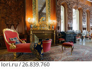Интерьер музыкальной гостиной в Юсуповском дворце на Мойке, Санкт-Петербург, фото № 26839760, снято 30 августа 2017 г. (c) Stockphoto / Фотобанк Лори