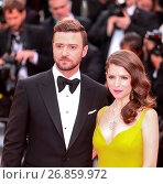 Купить «The Gala Opening Ceremony of the 69th Cannes Film Festival Featuring: Justin Timberlake, Anna Kendrick Where: Cannes, France When: 11 May 2016 Credit: WENN.com», фото № 26859972, снято 11 мая 2016 г. (c) age Fotostock / Фотобанк Лори
