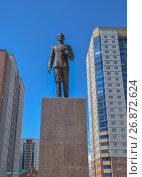 Памятник Цесаревичу Николаю на Казачьей площади в Чите, Забайкальский край, фото № 26872624, снято 26 июля 2017 г. (c) Геннадий Соловьев / Фотобанк Лори