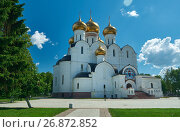 Купить «Uspensky Cathedral in Yaroslavl Russia», фото № 26872852, снято 18 июня 2017 г. (c) Александр Fanfo / Фотобанк Лори