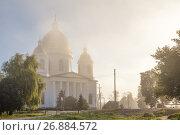 Свято-Троицкий собор города Моршанска ранним утром, фото № 26884572, снято 11 августа 2017 г. (c) Александр Гаценко / Фотобанк Лори