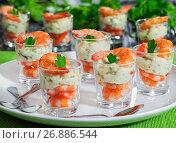 Купить «individual Cocktail Shrimp Shooters with delicious homemade aiol», фото № 26886544, снято 25 февраля 2020 г. (c) Oksana Zh / Фотобанк Лори