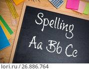 Hand writing Spelling text on blackboard. Стоковое фото, агентство Wavebreak Media / Фотобанк Лори