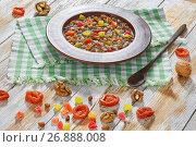 Купить «kutia with nuts, poppy seeds, dried fruits. succade and honey», фото № 26888008, снято 18 августа 2019 г. (c) Oksana Zh / Фотобанк Лори