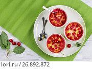 Купить «delicious sour Cherry clafoutis on table», фото № 26892872, снято 12 июля 2017 г. (c) Oksana Zh / Фотобанк Лори