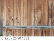 Купить «Background in style a rustic from old vertical wooden unpainted boards», фото № 26907532, снято 9 сентября 2017 г. (c) Anatoly Timofeev / Фотобанк Лори
