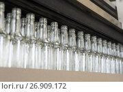 Купить «A row of empty bottles.», фото № 26909172, снято 5 июля 2017 г. (c) Андрей Радченко / Фотобанк Лори