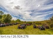 Купить «Квадроциклы на природе», фото № 26924276, снято 10 июня 2017 г. (c) Акиньшин Владимир / Фотобанк Лори