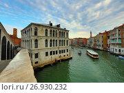 View from Rialto bridge in Venice (2017 год). Стоковое фото, фотограф Михаил Коханчиков / Фотобанк Лори
